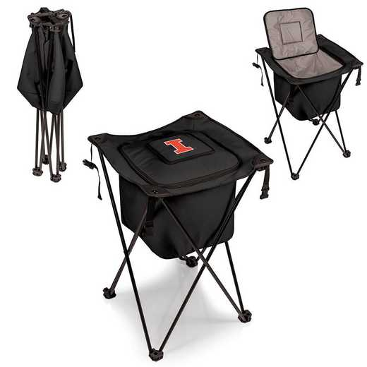 779-00-179-214-0: Illinois Fighting Illini - Sidekick Portable Standing Cooler (Black)