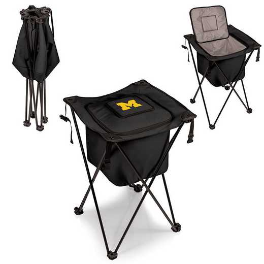 779-00-179-344-0: Michigan Wolverines - Sidekick Portable Standing Cooler (Black)