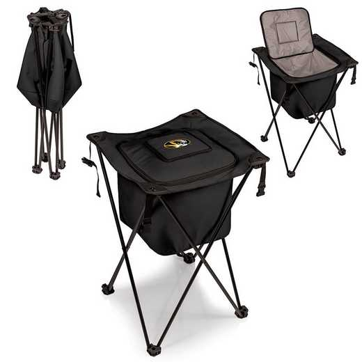 779-00-179-394-0: Mizzou Tigers - Sidekick Portable Standing Cooler (Black)