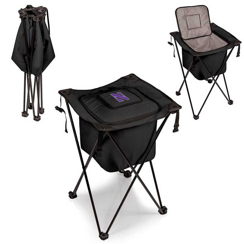 779-00-179-434-0: Northwestern Wildcats - Sidekick Portable Standing Cooler (Black)