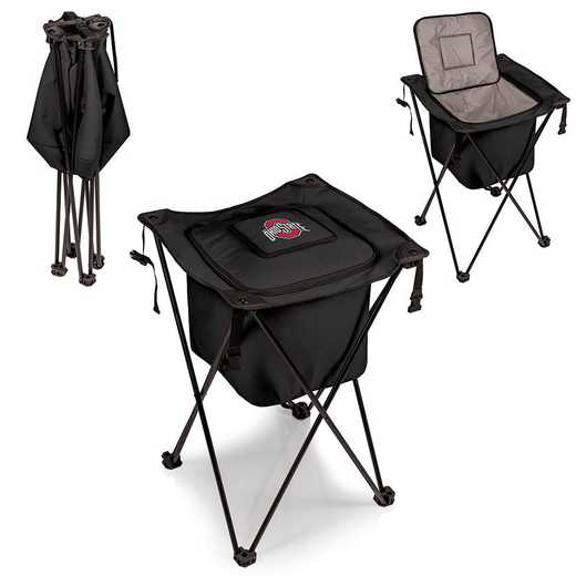 779-00-179-444-0: Ohio State Buckeyes - Sidekick Portable Standing Cooler (Black)
