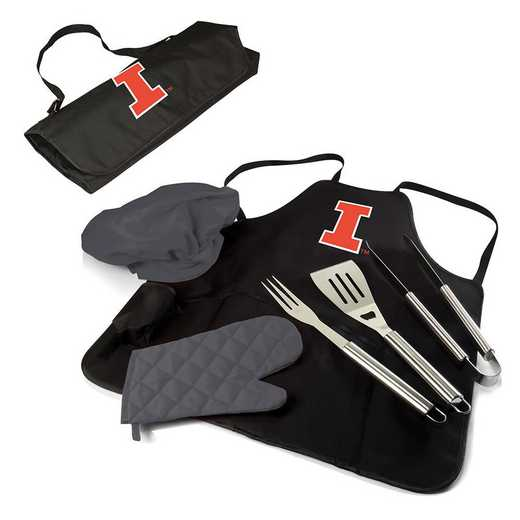 635-88-179-214-0: Illinois Fighting Illini - BBQ Apron Tote Pro