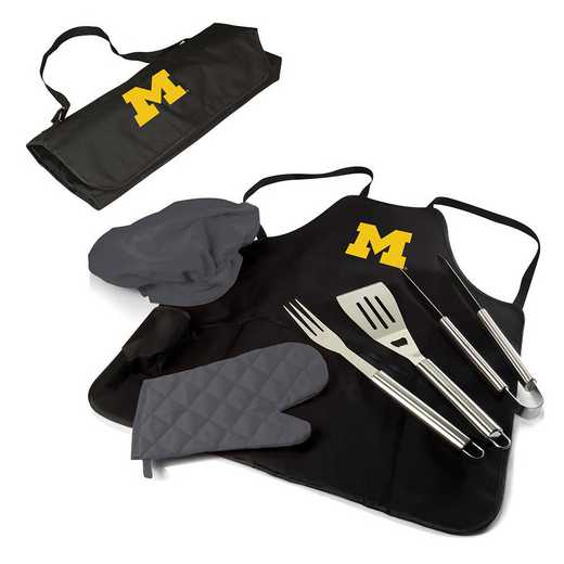 635-88-179-344-0: Michigan Wolverines - BBQ Apron Tote Pro