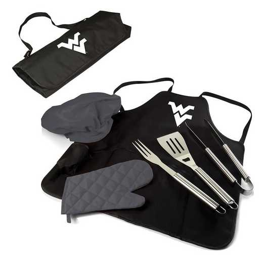 635-88-179-834-0: West Virginia Mountaineers - BBQ Apron Tote Pro
