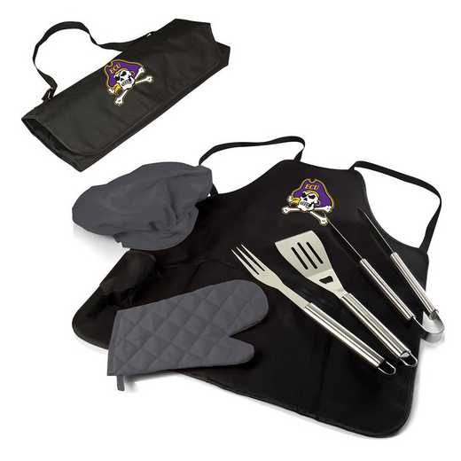 635-88-179-874-0: East Carolina Pirates - BBQ Apron Tote Pro