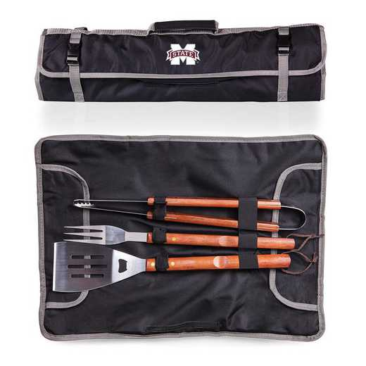 749-03-175-384-0: Mississippi State Bulldogs - 3-Piece BBQ Tote and Tools Set