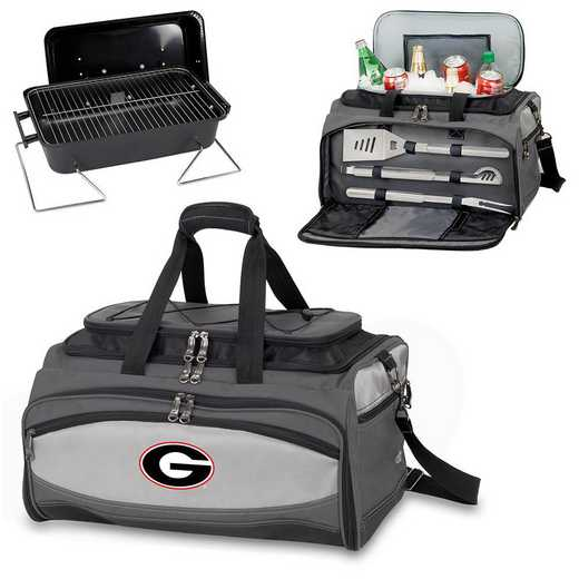 750-00-175-184-0: Georgia Bulldogs - Buccaneer Portable BBQ and Cooler Tote