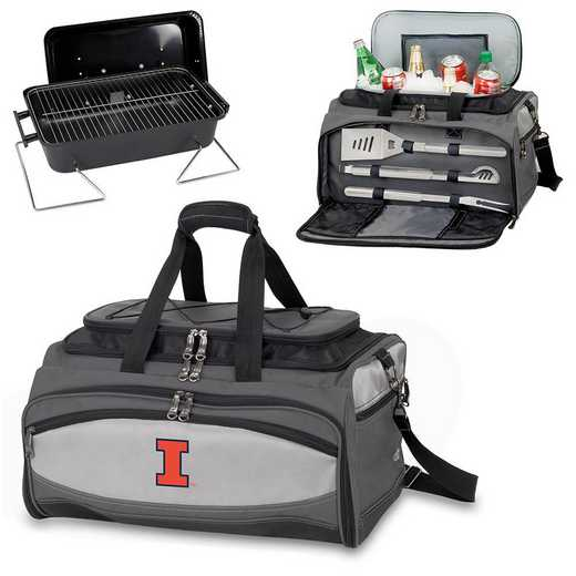 750-00-175-214-0: Illinois Fighting Illini Buccaneer Portable BBQ/Cooler Tote