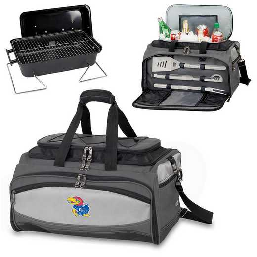 750-00-175-244-0: Kansas Jayhawks - Buccaneer Portable BBQ and Cooler Tote