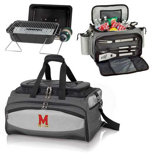 750-00-175-314-0: Maryland Terrapins - Buccaneer Portable BBQ and Cooler Tote