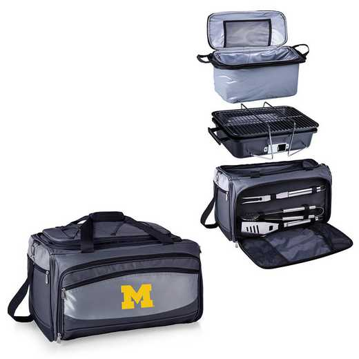 750-00-175-344-0: Michigan Wolverines - Buccaneer Portable BBQ and Cooler Tote