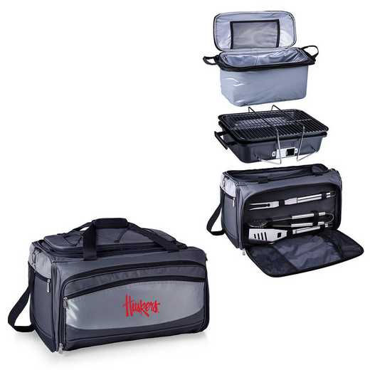 750-00-175-404-0: Nebraska Cornhuskers Buccaneer Portable BBQ and Cooler Tote