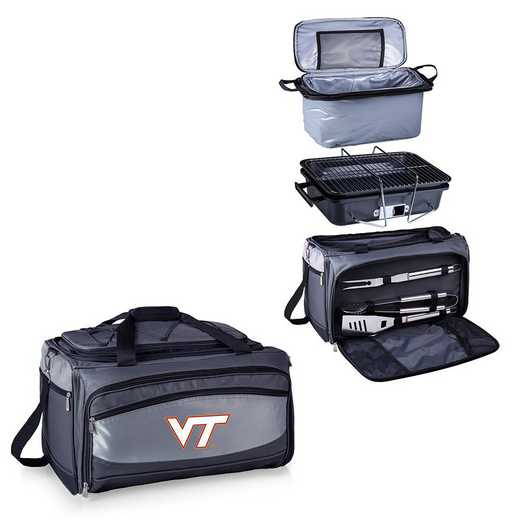 750-00-175-604-0: Virginia Tech HokiesBuccaneer Portable BBQ /CoolerTote