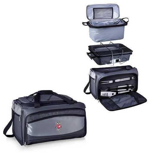 750-00-175-644-0: Wisconsin BadgersBuccaneer Portable BBQ /CoolerTote