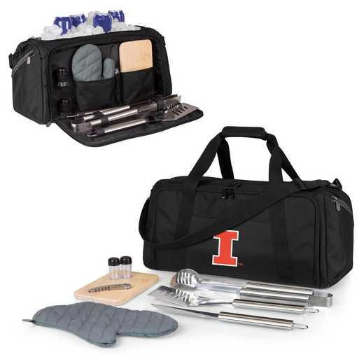 757-06-175-214-0: Illinois Fighting Illini - BBQ Kit Cooler