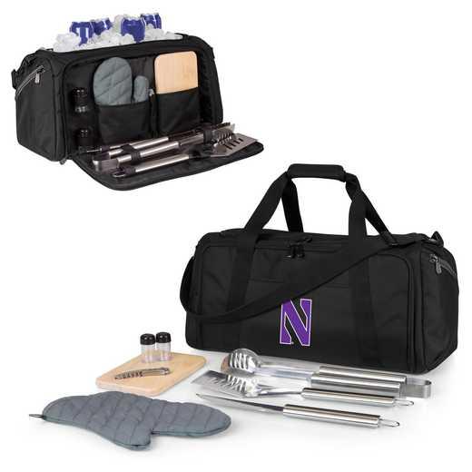 757-06-175-434-0: Northwestern Wildcats - BBQ Kit Cooler