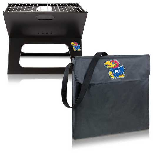 775-00-175-244-0: Kansas Jayhawks - X-Grill Portable BBQ