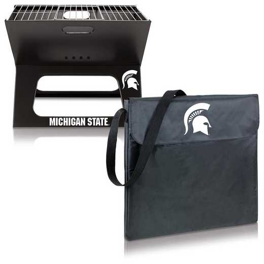 775-00-175-354-0: Michigan State Spartans - X-Grill Portable BBQ