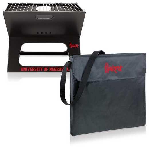 775-00-175-404-0: Nebraska Cornhuskers - X-Grill Portable BBQ
