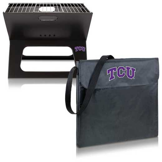 775-00-175-844-0: TCU Horned Frogs - X-Grill Portable BBQ