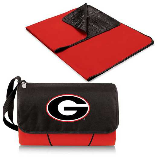 820-00-100-184-0: Georgia Bulldogs - Blanket Tote (Red)