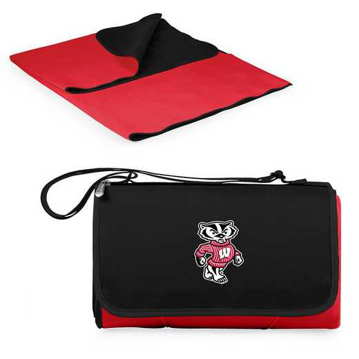 820-00-100-644-0: Wisconsin Badgers - Blanket Tote (Red)