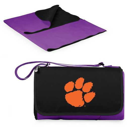820-00-101-104-0: Clemson Tigers - Blanket Tote (Purple)