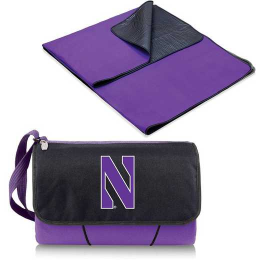 820-00-101-434-0: Northwestern Wildcats - Blanket Tote (Purple)