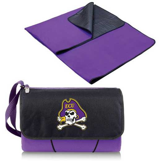 820-00-101-874-0: East Carolina Pirates - Blanket Tote (Purple)