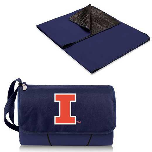 820-00-138-214-0: Illinois Fighting Illini - Blanket Tote (Navy)