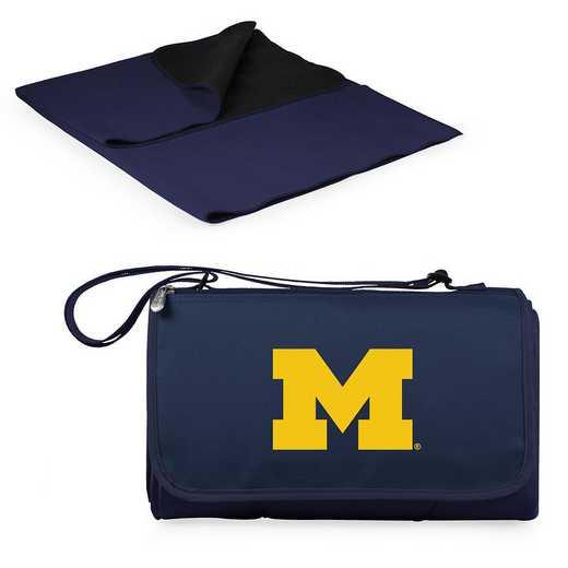 820-00-138-344-0: Michigan Wolverines - Blanket Tote (Navy)