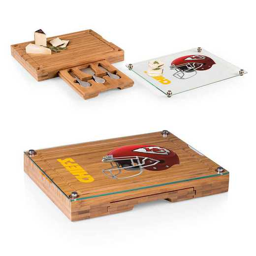 919-00-505-164-2: Kansas City Chiefs-Concerto Bamboo CB/Tray/Cheese Tools ST