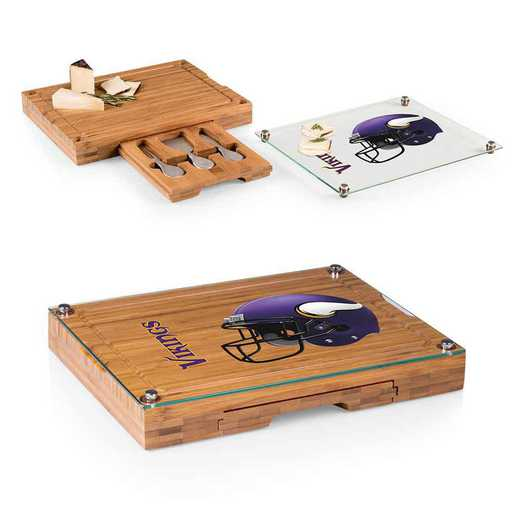 919-00-505-184-2: Minnesota Vikings-Concerto Bamboo CB/Tray/Cheese Tools ST