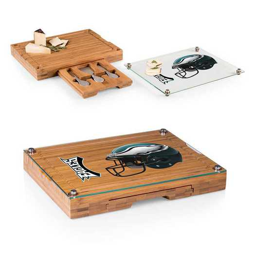 919-00-505-244-2: Philadelphia Eagles-Concerto Bamboo CB/Tray/Cheese Tools ST