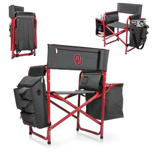 807-00-600-454-0: Oklahoma Sooners - Fusion Chair (Fusion Grey/Red)