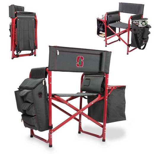 807-00-600-534-0: Stanford Cardinal - Fusion Chair (Fusion Grey/Red)