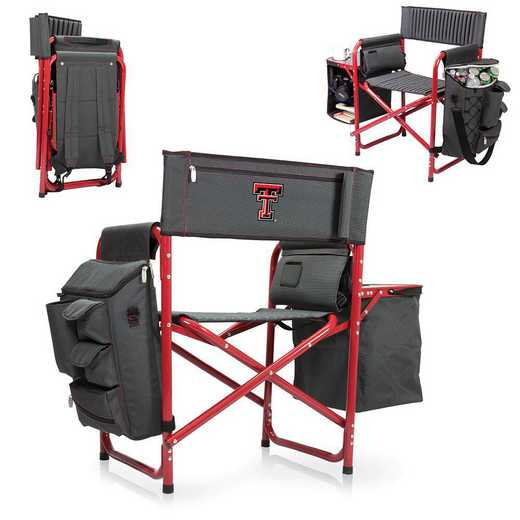 807-00-600-574-0: Texas Tech Red Raiders - Fusion Chair (Fusion Grey/Red)