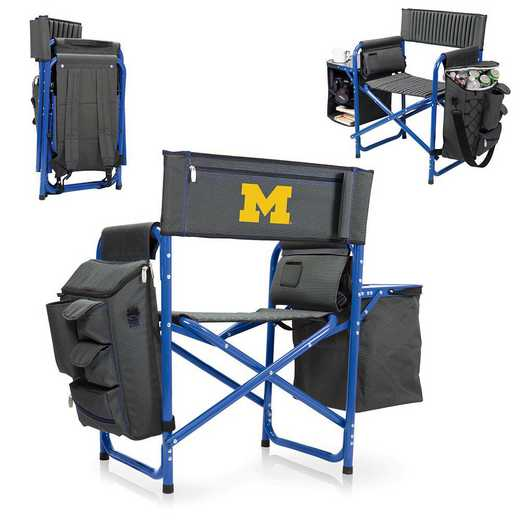 807-00-639-344-0: Michigan Wolverines - Fusion Chair (Fusion Grey/Blue)
