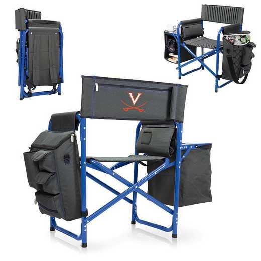 807-00-639-594-0: Virginia Cavaliers - Fusion Chair (Fusion Grey/Blue)