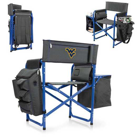 807-00-639-834-0: West Virginia Mountaineers - Fusion Chair (Fusion Grey/Blue)