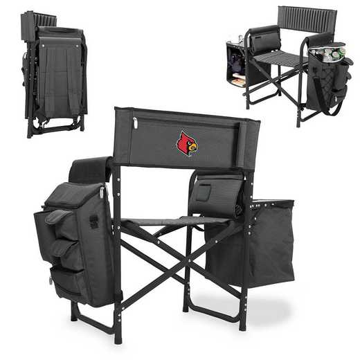 807-00-679-304-0: Louisville Cardinals - Fusion Chair (Fusion Grey/Black)
