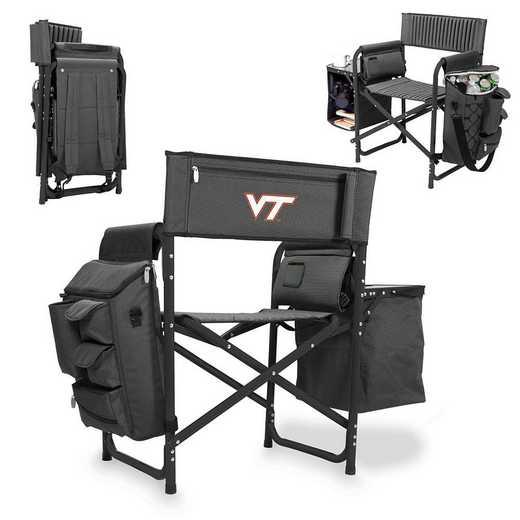 807-00-679-604-0: Virginia Tech Hokies - Fusion Chair (Fusion Grey/Black)