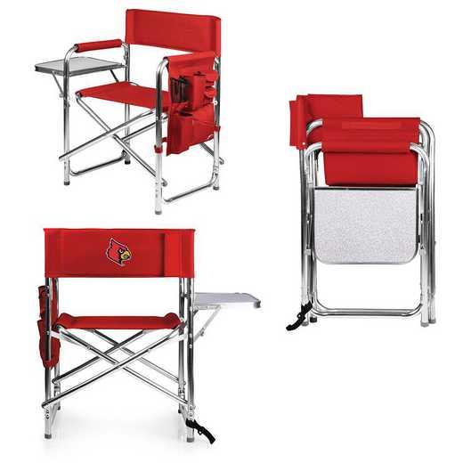 809-00-100-304-0: Louisville Cardinals - Sports Chair (Red)