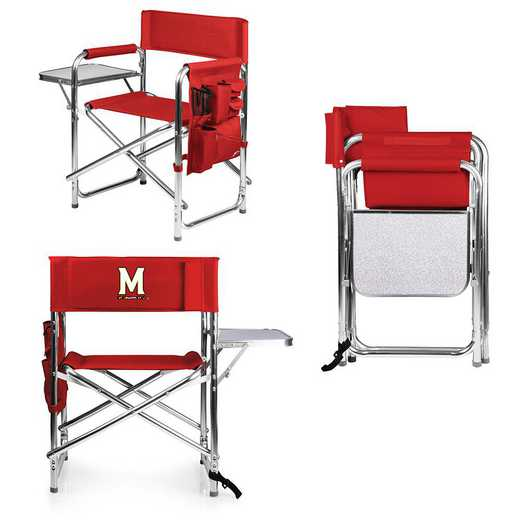809-00-100-314-0: Maryland Terrapins - Sports Chair (Red)
