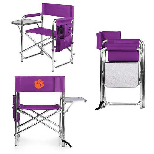 809-00-101-104-0: Clemson Tigers - Sports Chair (Purple)