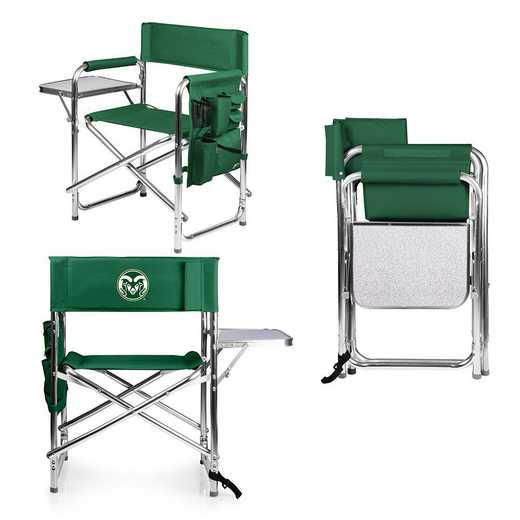 809-00-121-134-0: Colorado State Rams - Sports Chair (Hunter Green)