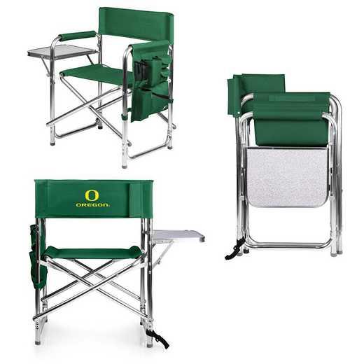 809-00-121-474-0: Oregon Ducks - Sports Chair (Hunter Green)