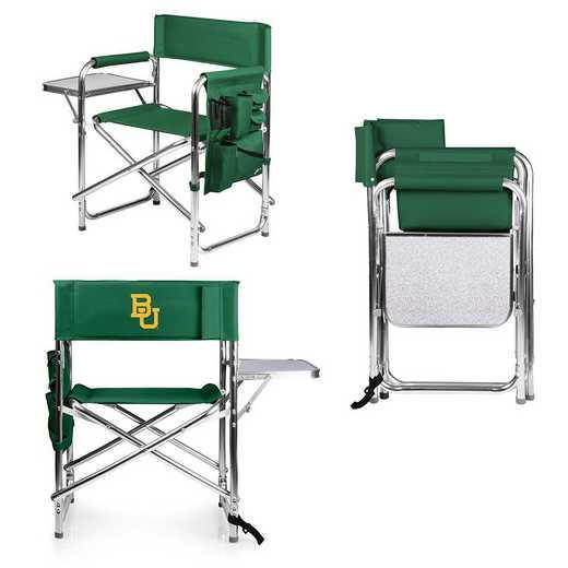 809-00-121-924-0: Baylor Bears - Sports Chair (Hunter Green)