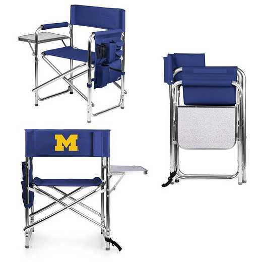 809-00-138-344-0: Michigan Wolverines - Sports Chair (Navy)