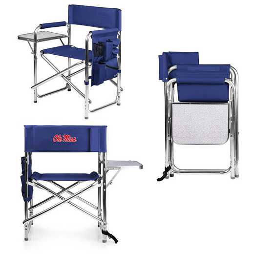 809-00-138-374-0: Ole Miss Rebels - Sports Chair (Navy)